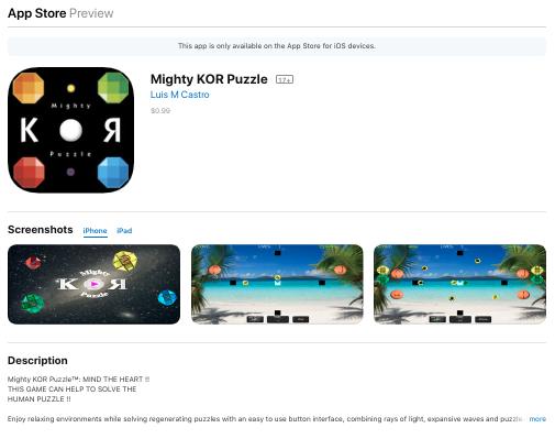 Mighty KOR Puzzle iTunes